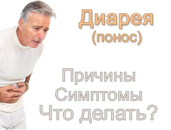Понос (диарея) - лечение и средства, причины, симптомы
